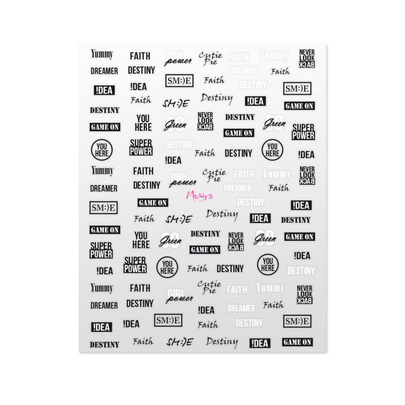 Moyra Matrica Nail Art Sticker NR 09