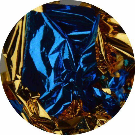 Bladgoud 06 Goud/Blauw Mix