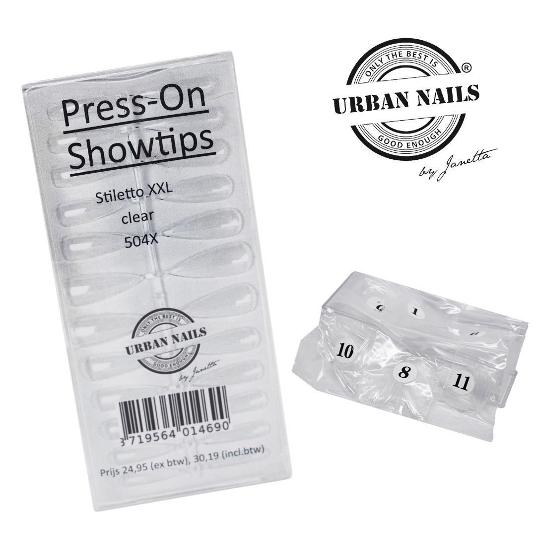Press on / Show tips Stiletto XXL Clear 504st