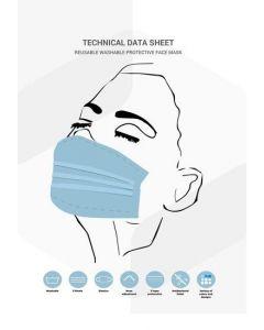 Facemask Wit Uitwasbaar