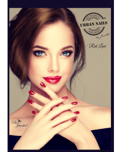 Urban Nails Poster A5   Red Love & Golden Lady