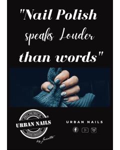 Urban Nails Poster A4   Nailart