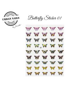 Nail Art Butterfly Sticker 01