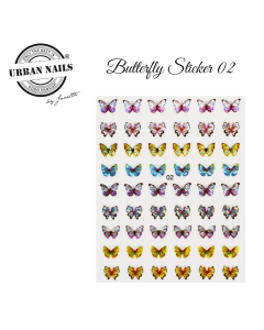 Nail Art Butterfly Sticker 02 Urban Nails