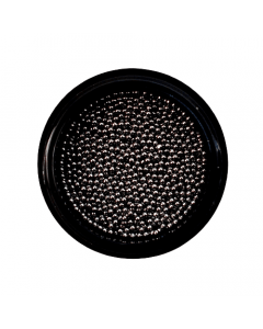 Caviar Bead Gunmetal Black 1mm