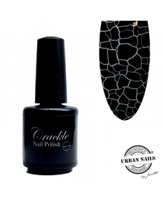 Urban Nails Crackle Polish Black 02