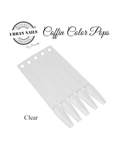 Urban Nails Coffin Colorpops 50st Clear