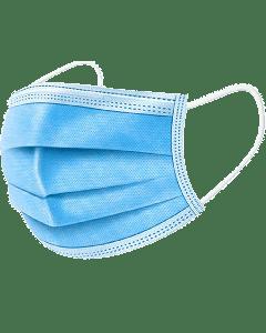 Mondmasker 50 stuks 3-laags met elastiek. CE certificering