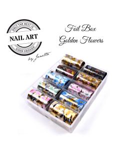 Golden Flower Foil Box