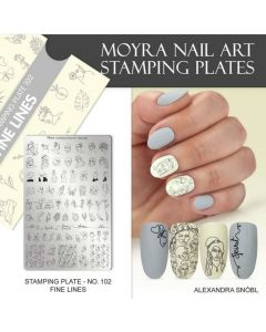 Moyra Stamping Plate 102 Fine Lines