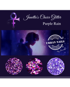 'Purple Rain' Glitter Collection