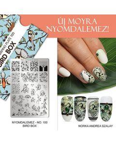 Moyra Stamping Plate 100 Bird Box
