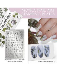 Stamping Plate 105 Urban Gardening| Moyra