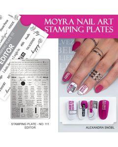 Moyra Stamping Plate 111 Editor| Moyra