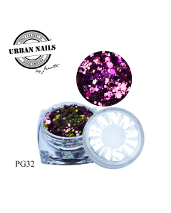 Urban Nails Pixie Glitter Collectie PG32 | Urban Nails