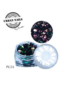 Urban Nails Pixie Glitter Collectie PG34 | Urban Nails
