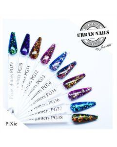 Urban Nails Pixie Glitter Collectie PG29 t/m PG38