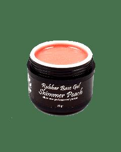 Rubber Base Gel Shimmer Peach 5ml