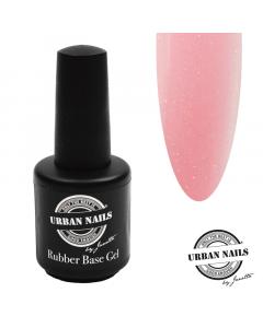 Rubber Base Gel Shimmer Baby Pink Silver