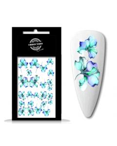 Urban Nails Waterdecal Flower Garden 06