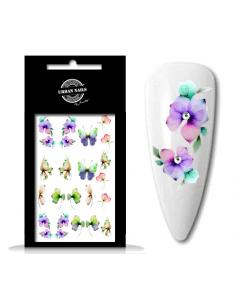 Urban Nails Waterdecal Flower Garden 08